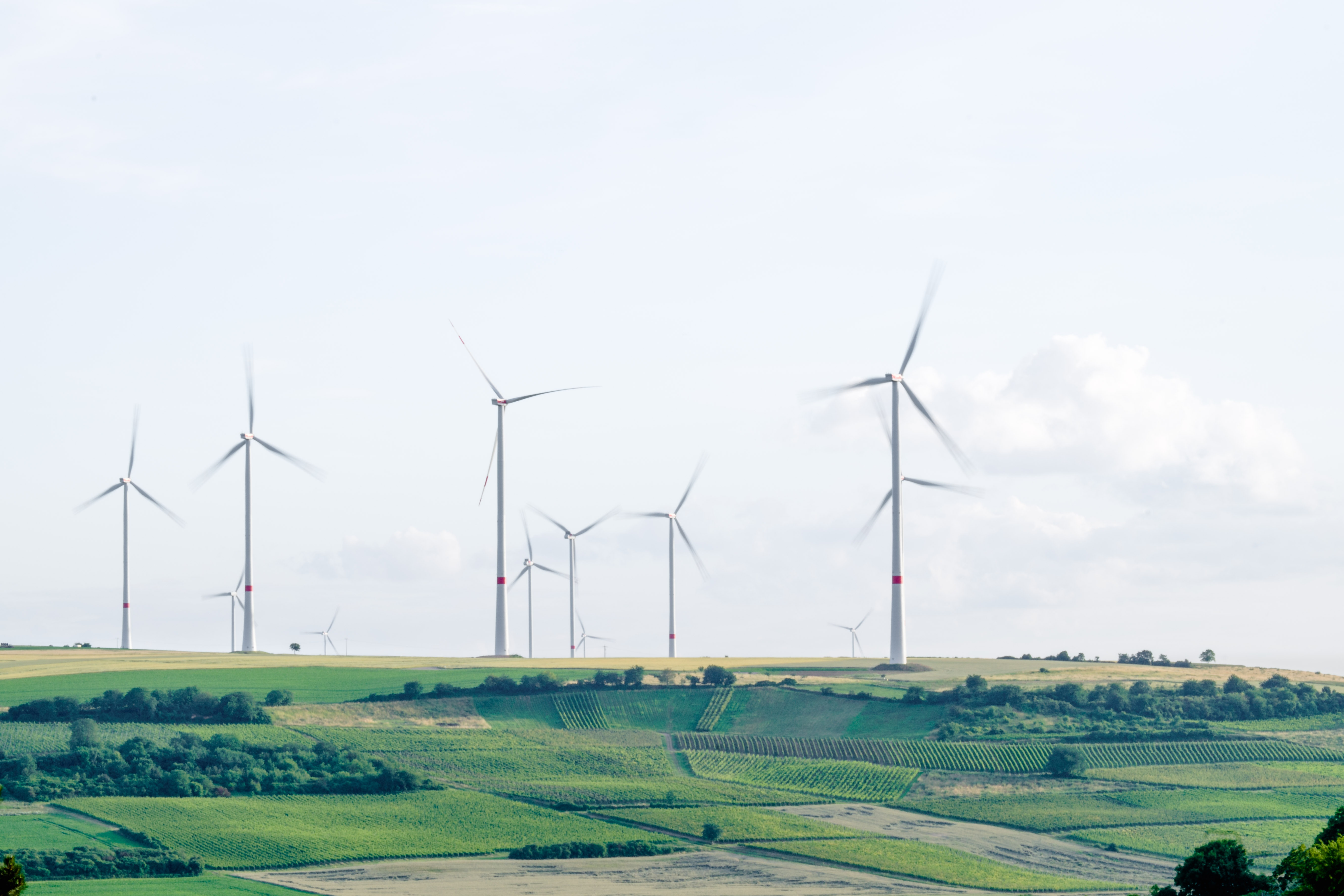 Windmills in Landscape Generating Green Electricity